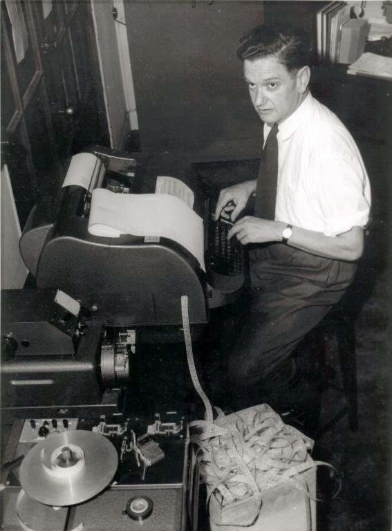 John Bennett at Teletype